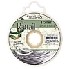 Rattail Cord 1.5mm 20 Yds With Re-useable Bobbin Silver